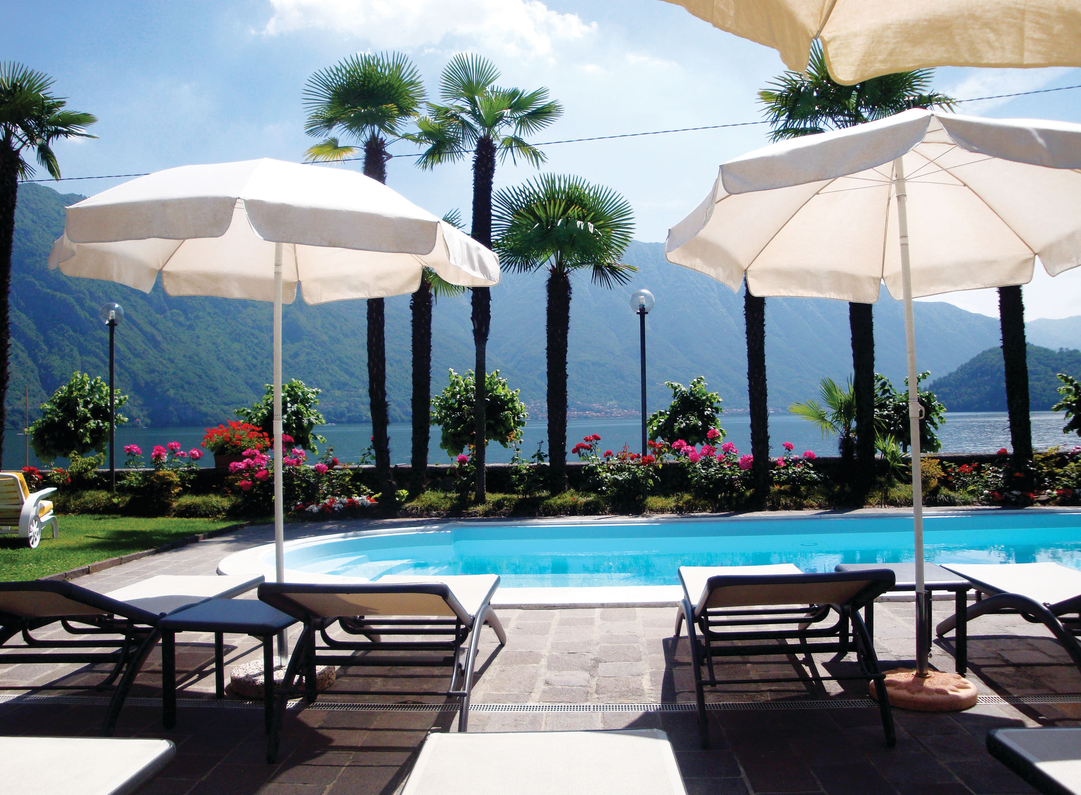 View of the pool at the Hotel Villa Marie