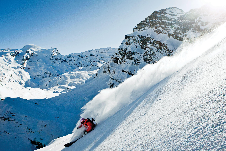 Off piste skiing Engelberg