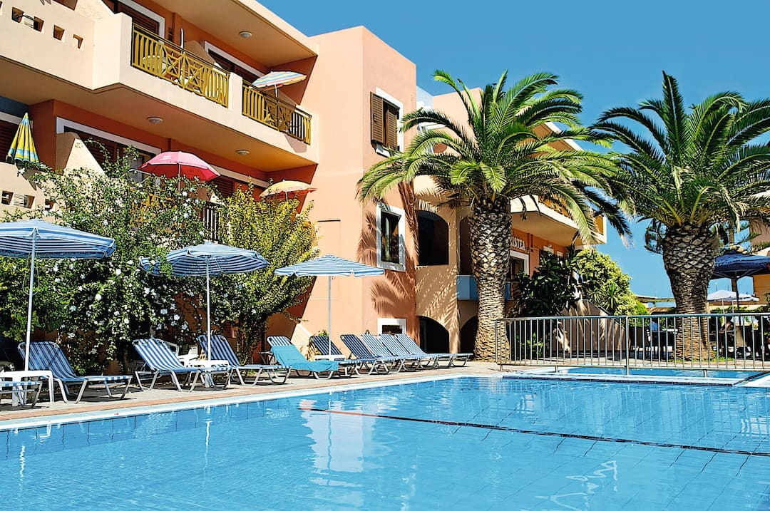 Holiday to Aristea Hotel And Apartments in RETHYMNON (GREECE) for 4 nights (SC) departing from birmingham on 03 May