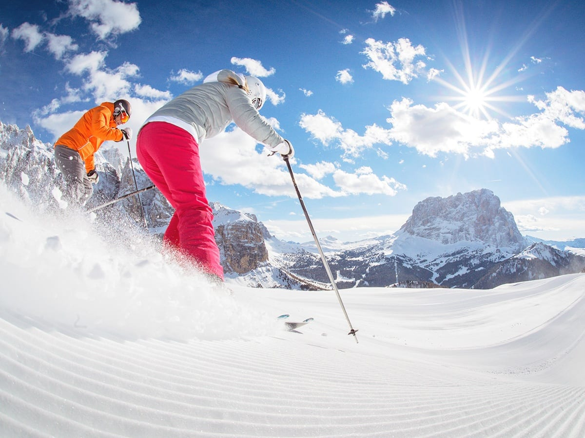 Skier in Santa Cristina