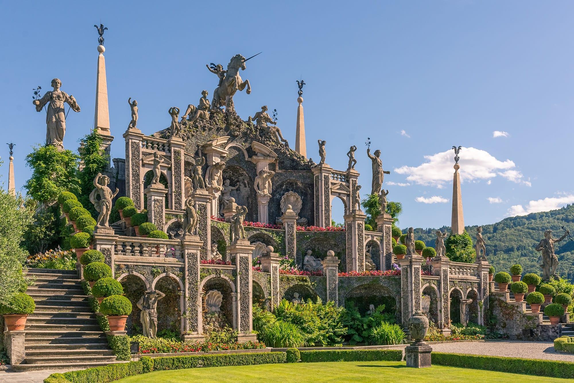 Stone theatre in the gardens of Isola Bella