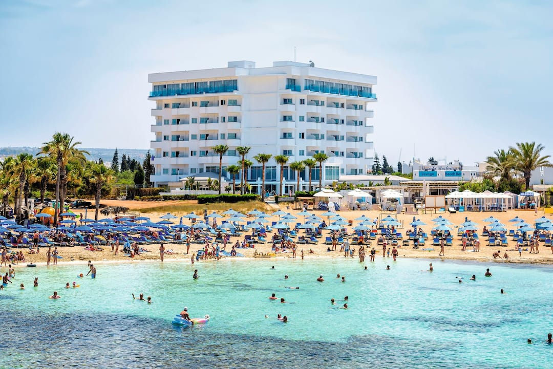 Holiday to Tasia Maris Sands Hotel in NISSI BEACH (CYPRUS) for 4 nights (HB) departing from birmingham on 29 Apr