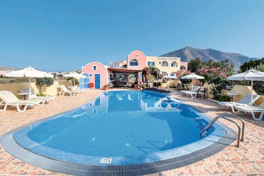 Holiday to Arapiou Apartments in PERISSA (GREECE) for 7 nights (SC) departing from east midlands on 09 May