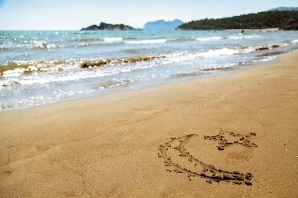 Sandy beach in Turkey