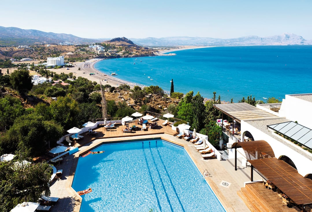 Holiday to Lindos Mare Hotel in LINDOS (GREECE) for 4 nights (HB) departing from stansted on 12 Oct