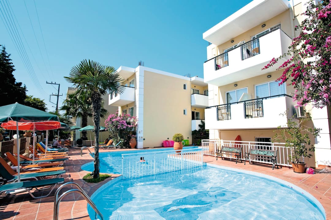 Holiday to Bueno Aparthotel in RETHYMNON (GREECE) for 4 nights (SC) departing from birmingham on 03 May