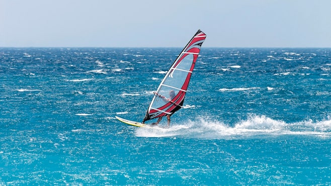 try windsurfing or diving on the beach thomson now tui