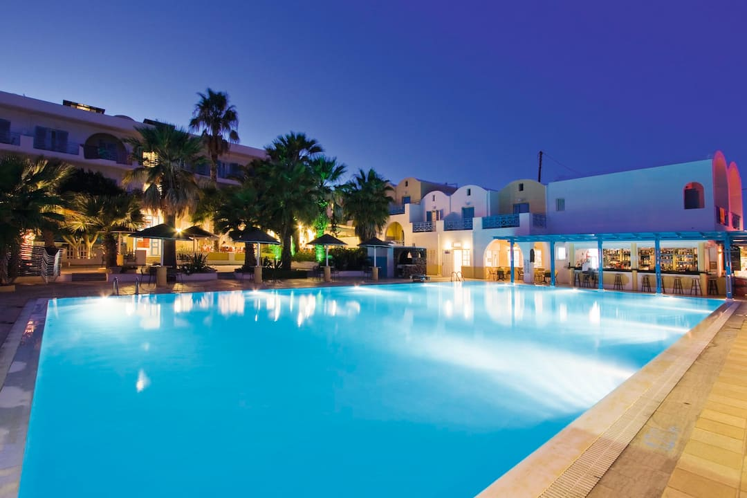 Holiday to Kamari Beach Hotel in KAMARI (GREECE) for 7 nights (BB) departing from east midlands on 02 May