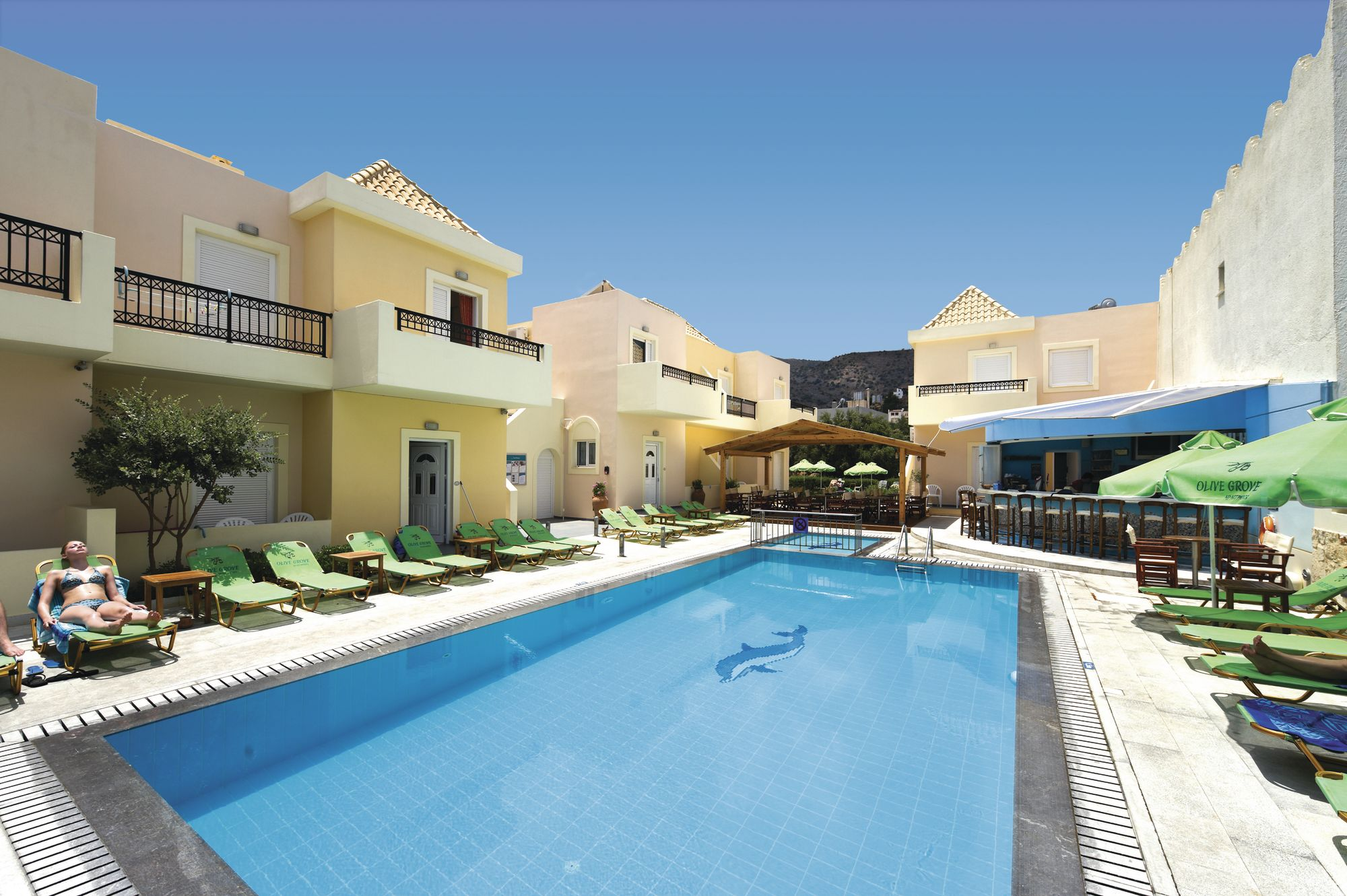 Holiday to Olive Grove Apartments in ELOUNDA (GREECE) for 4 nights (SC) departing from birmingham on 03 May