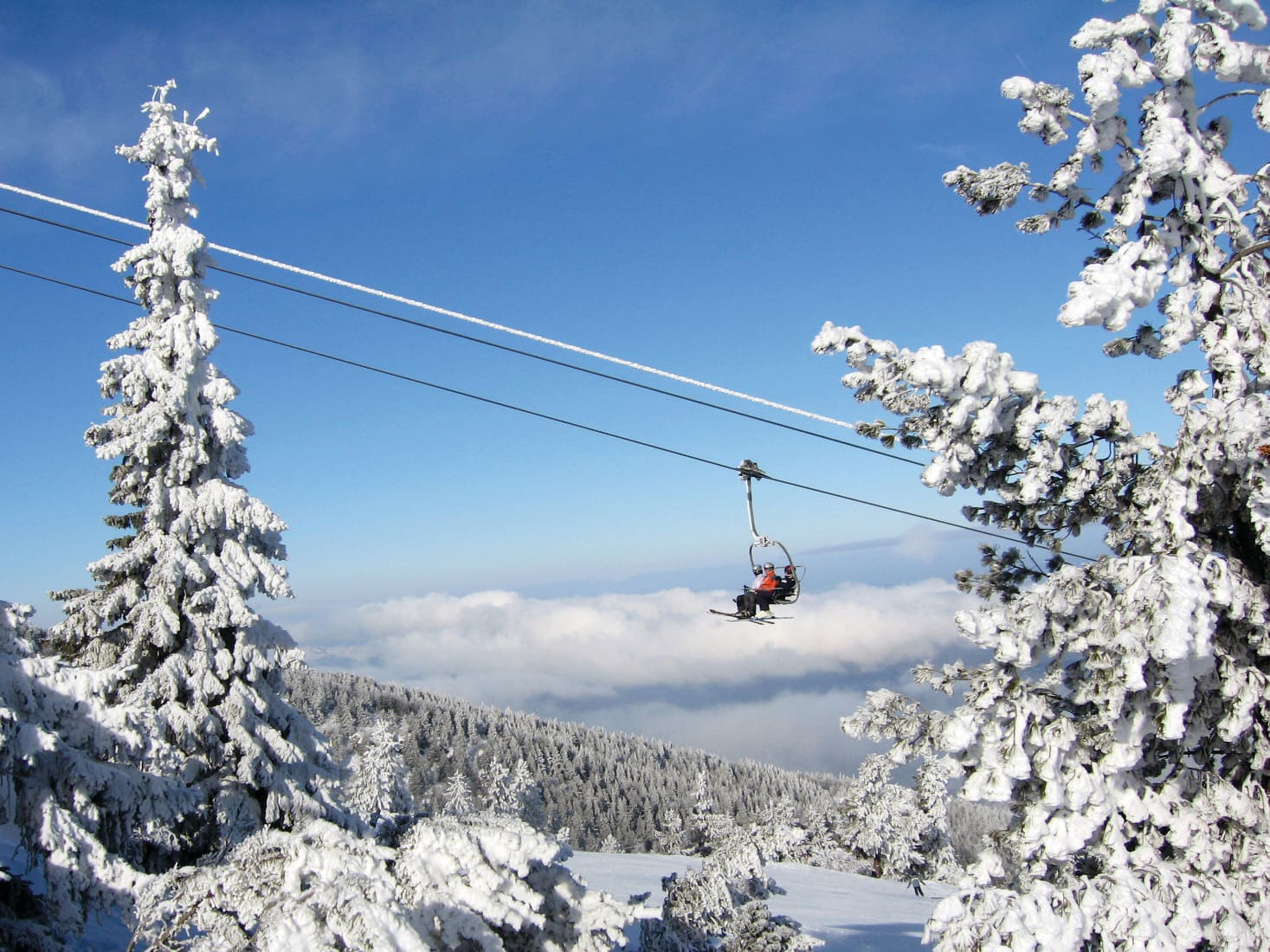 Chairlift in Borovets, Bulgaria