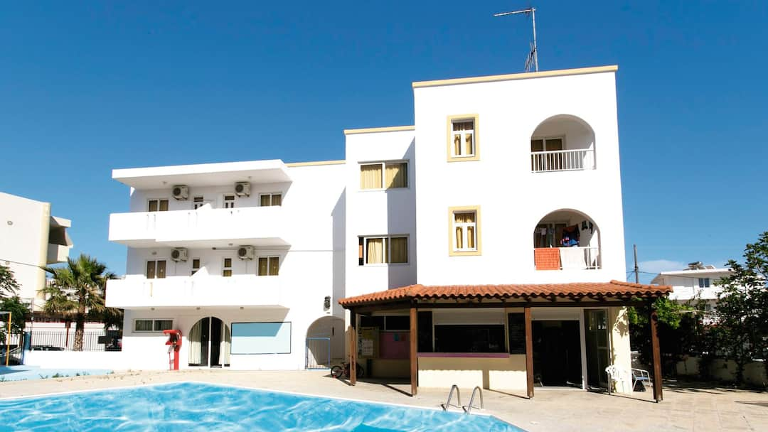 Holiday to Harriets Apartments in KARDAMENA (GREECE) for 14 nights (SC) departing from manchester on 27 May