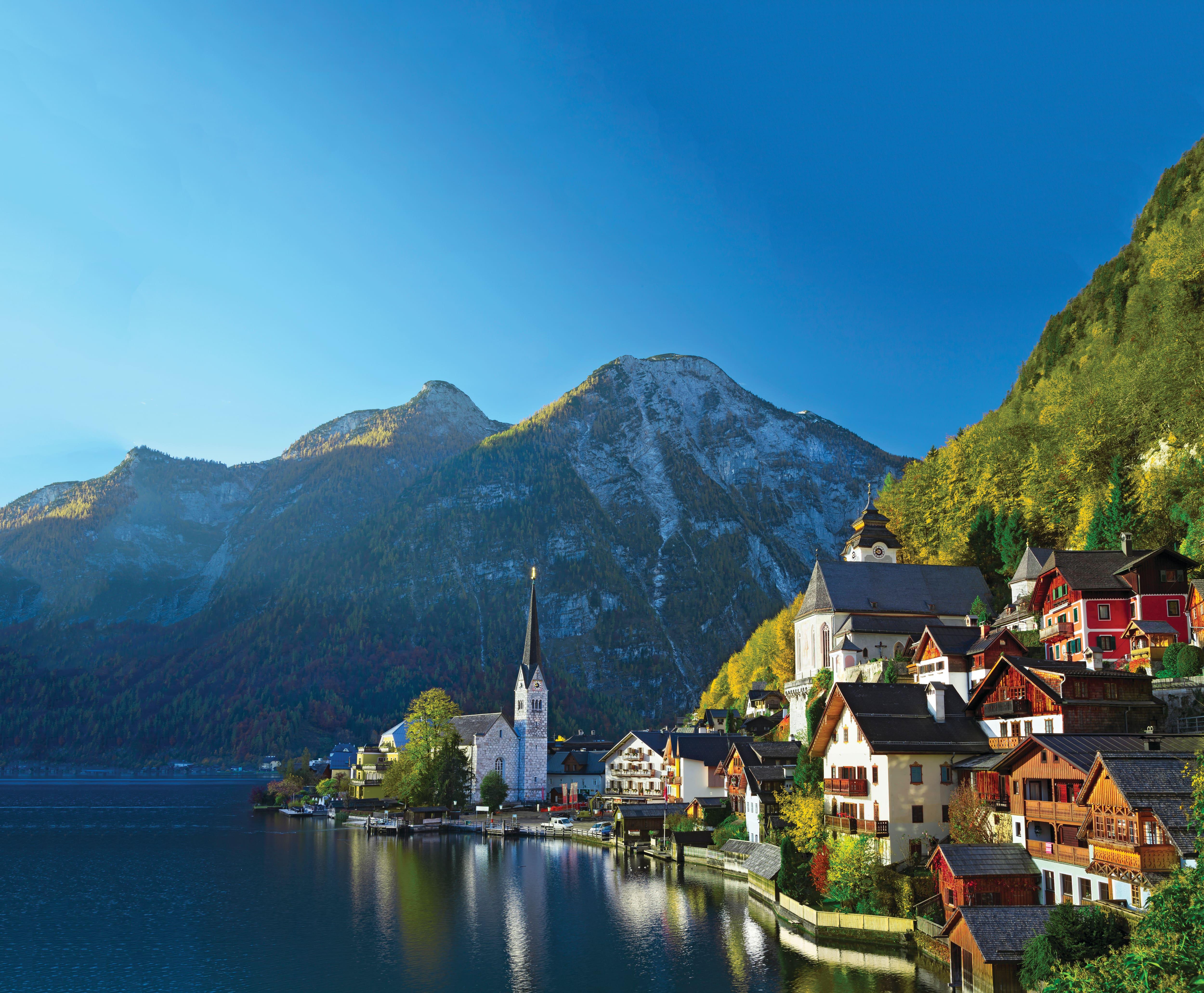 Hallstatt village in Austria