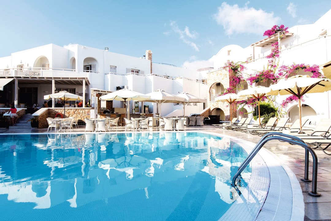 Holiday to Aegean Plaza Hotel in KAMARI (GREECE) for 7 nights (BB) departing from east midlands on 02 May