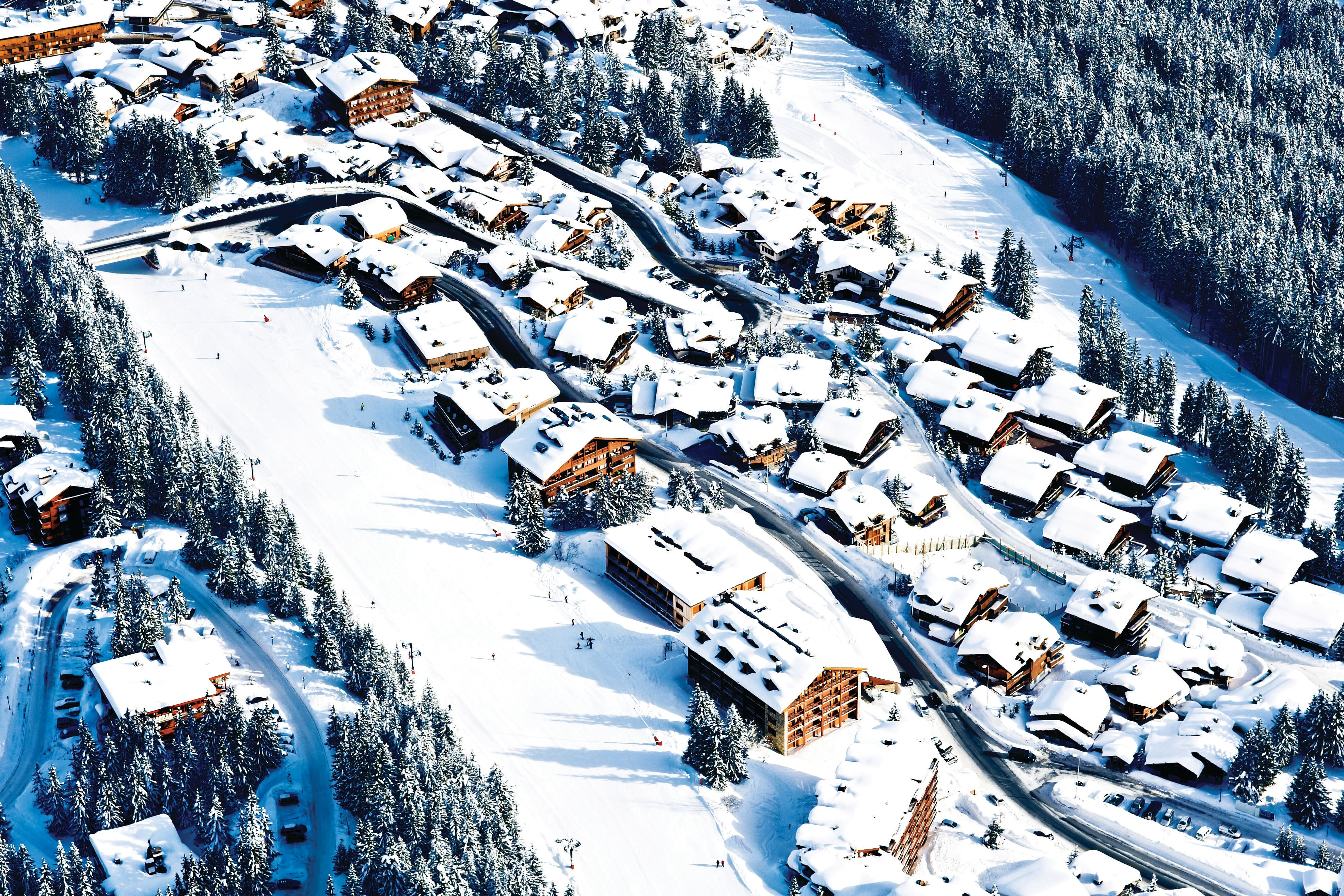 Aerial view of Courchevel