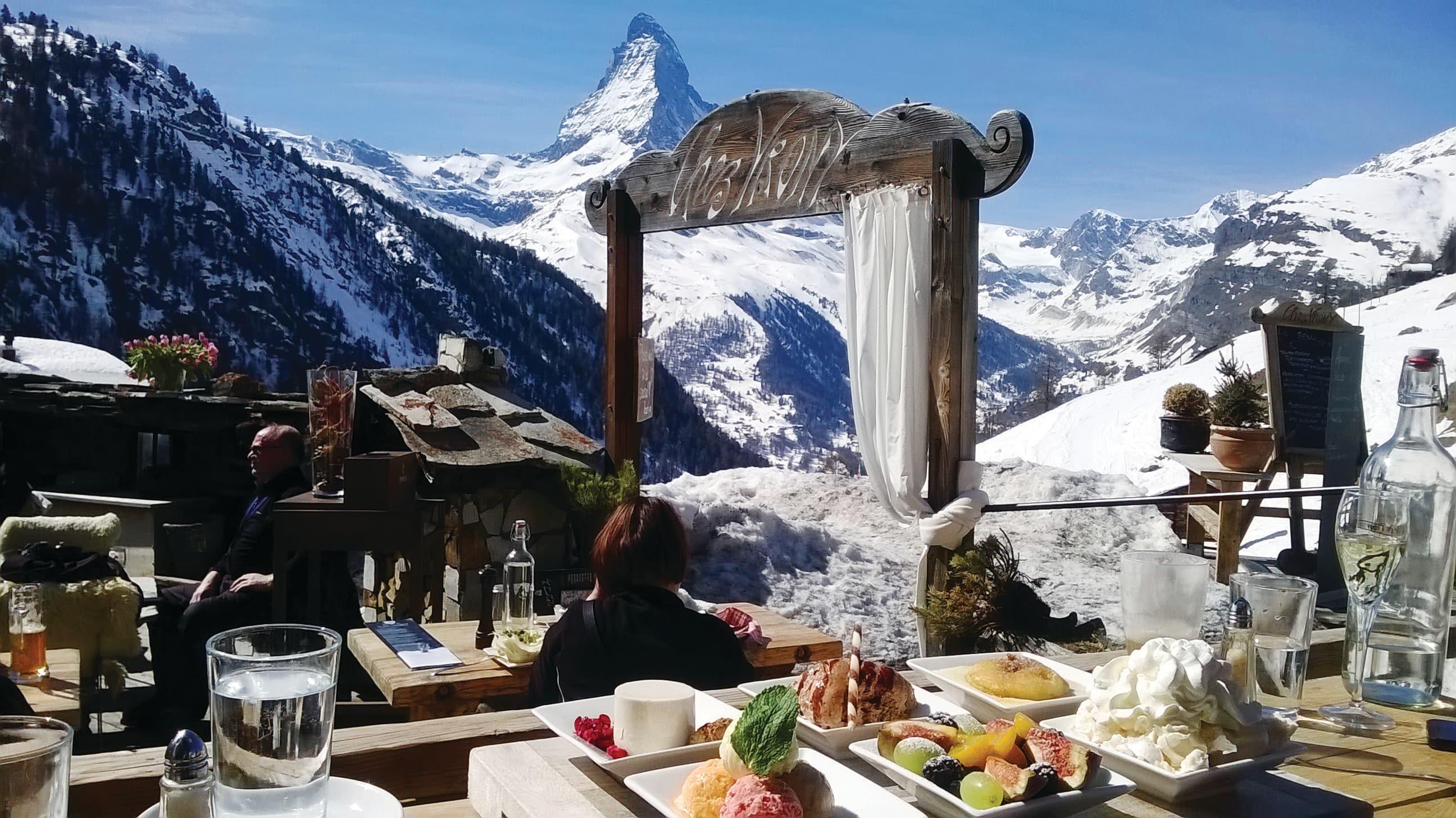 Chez Vrony restaurant in Zermatt