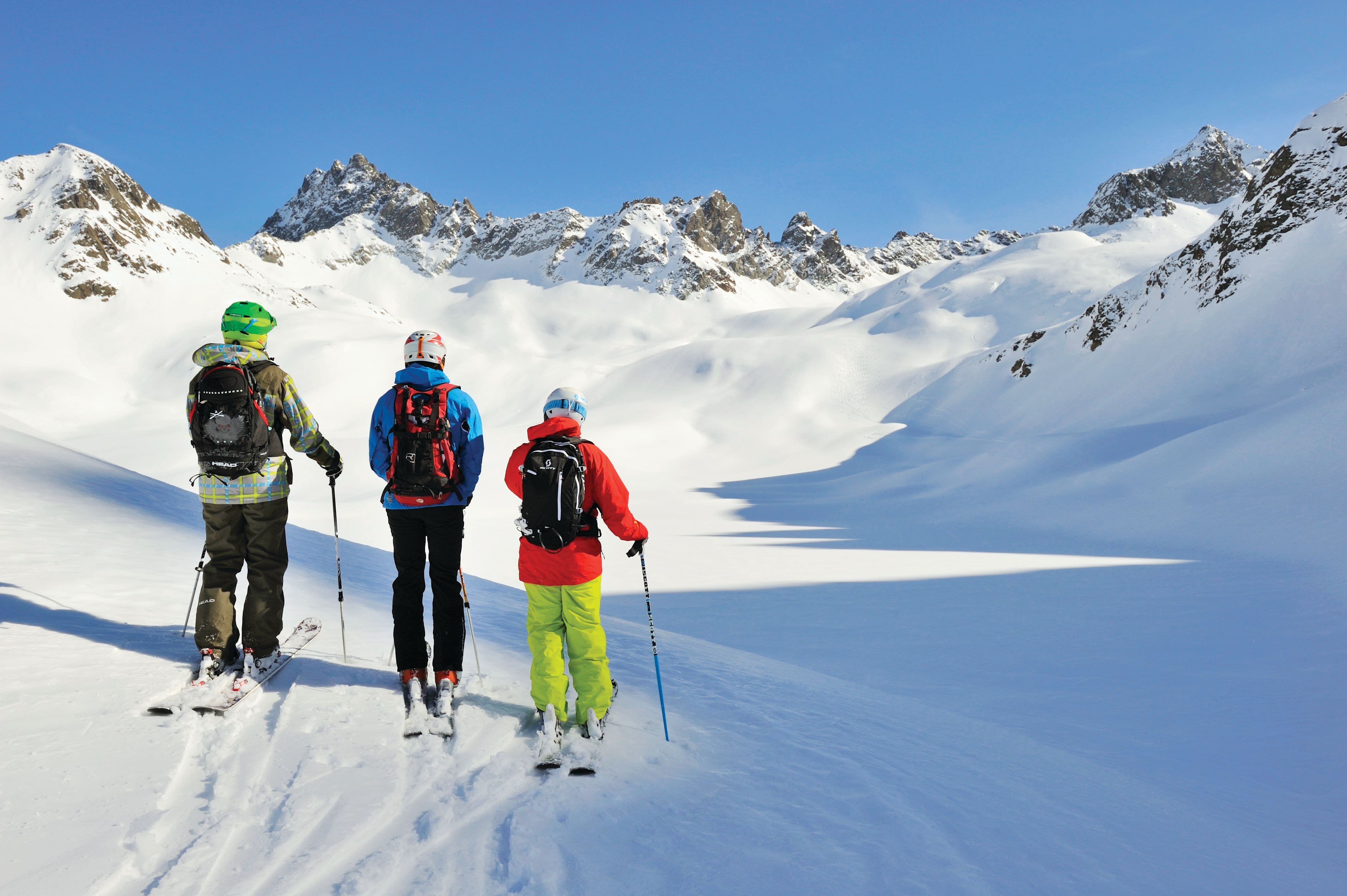 Skiers in St Anton