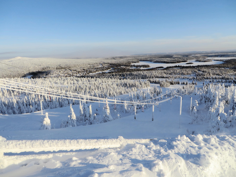 Ski slopes in Ruka, Finland
