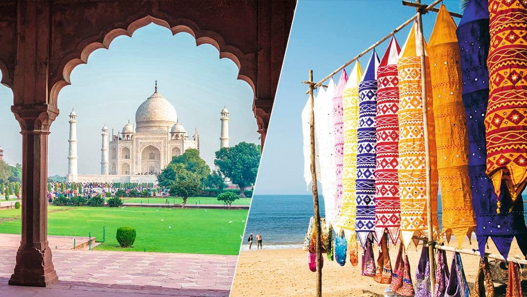 Taj Mahal and beaches