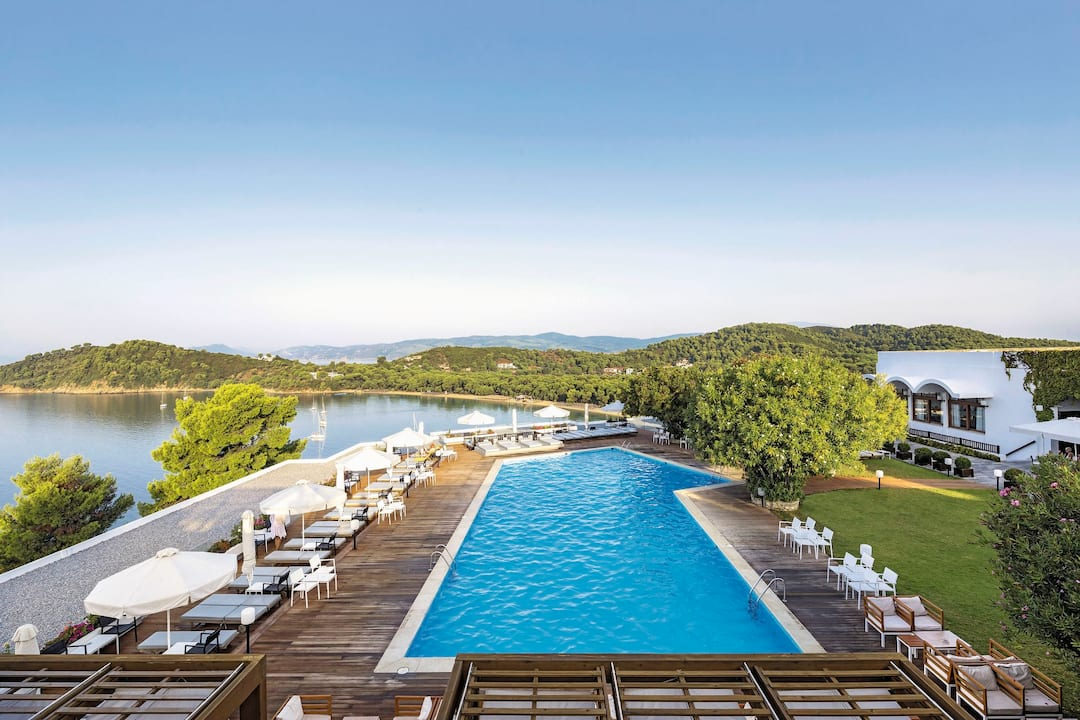 Holiday to Skiathos Palace Hotel in KOUKOUNARIES (GREECE) for 3 nights (BB) departing from birmingham on 05 May