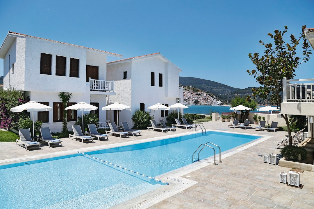 Holiday to Skopelos Village Suite Hotel in SKOPELOS - SKOPELOS TOWN (GREECE) for 7 nights (BB) departing from birmingham on 03 May