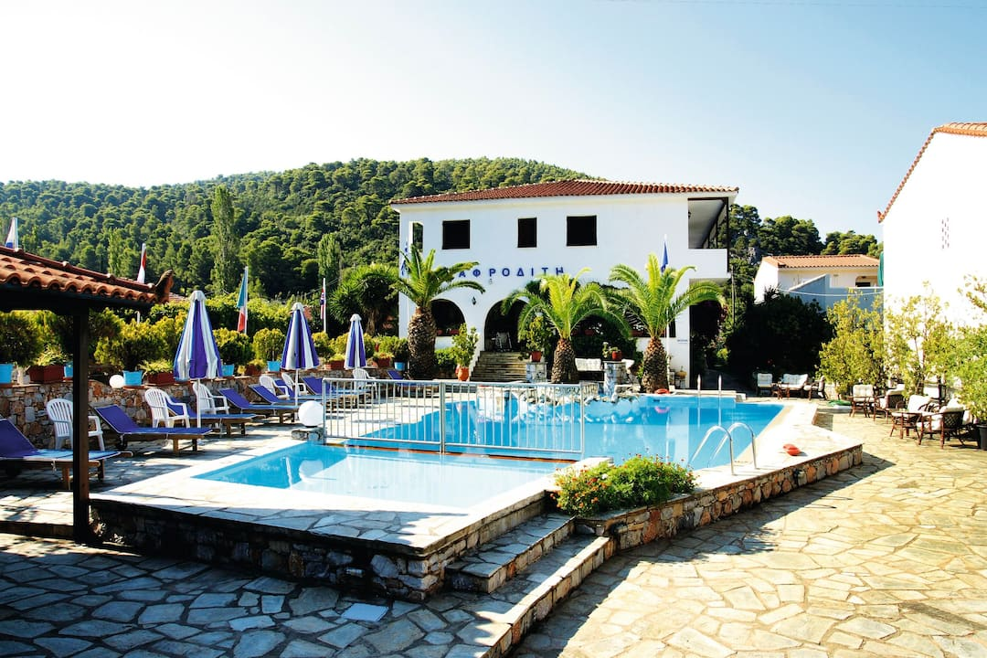 Holiday to Afrodite Hotel in SKOPELOS - PANORMAS (GREECE) for 7 nights (BB) departing from gatwick on 10 May