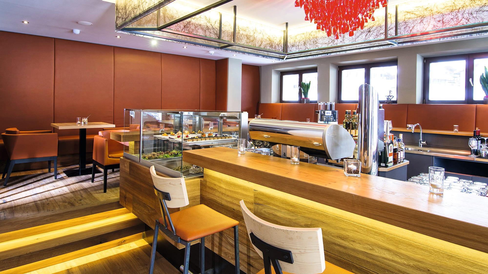 Hotel bar at the Alpin Resort