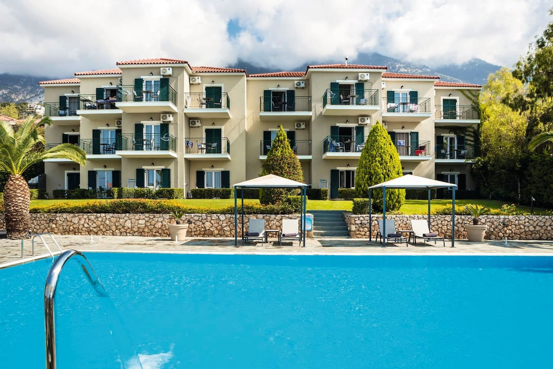 Holiday to Antonia Hotel in LOURDAS (GREECE) for 4 nights (SC) departing from birmingham on 05 May