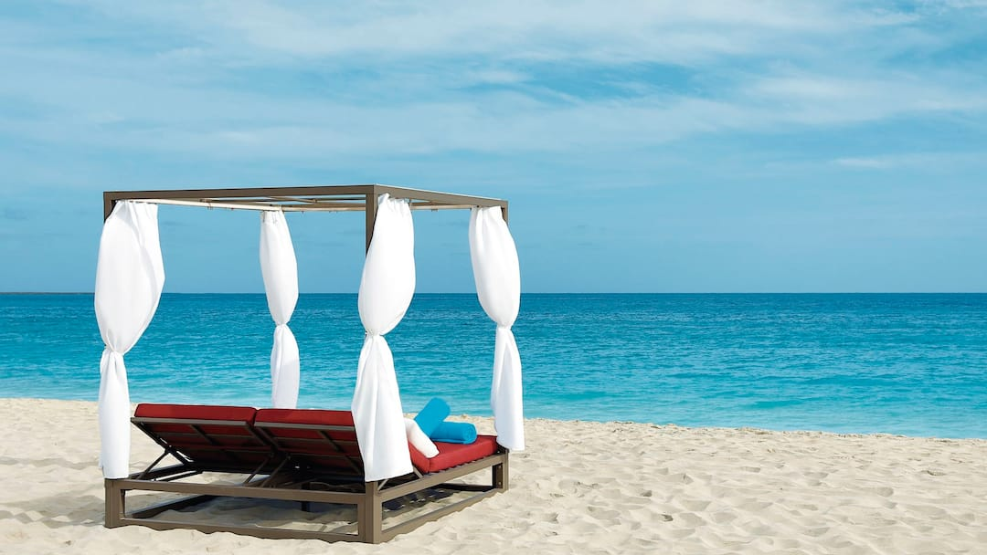 Day bed on beach