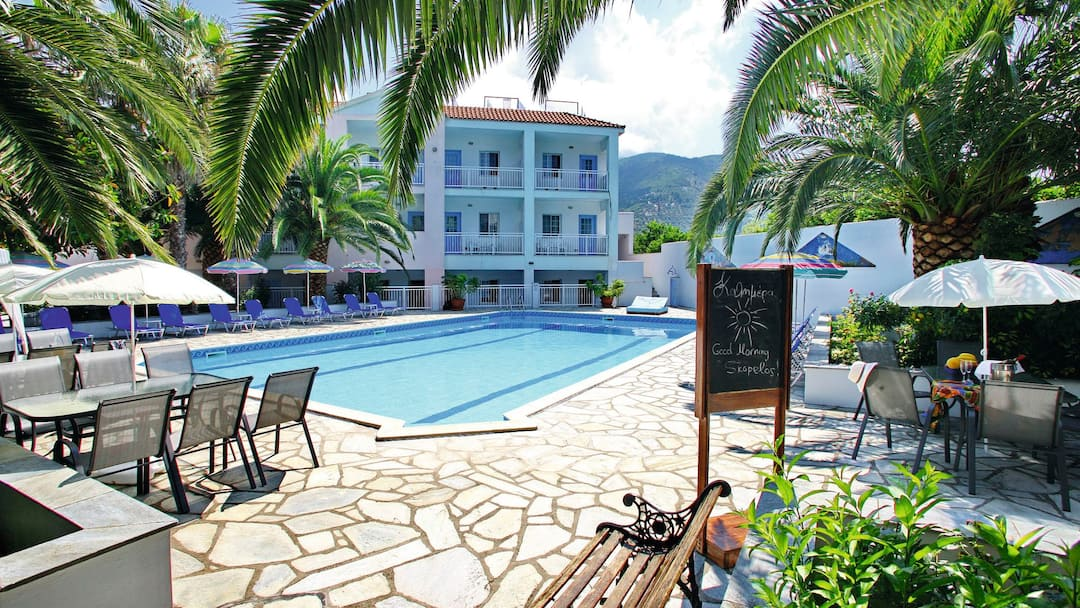Holiday to Dolphin Hotel in SKOPELOS - SKOPELOS TOWN (GREECE) for 7 nights (BB) departing from luton on 14 Jun