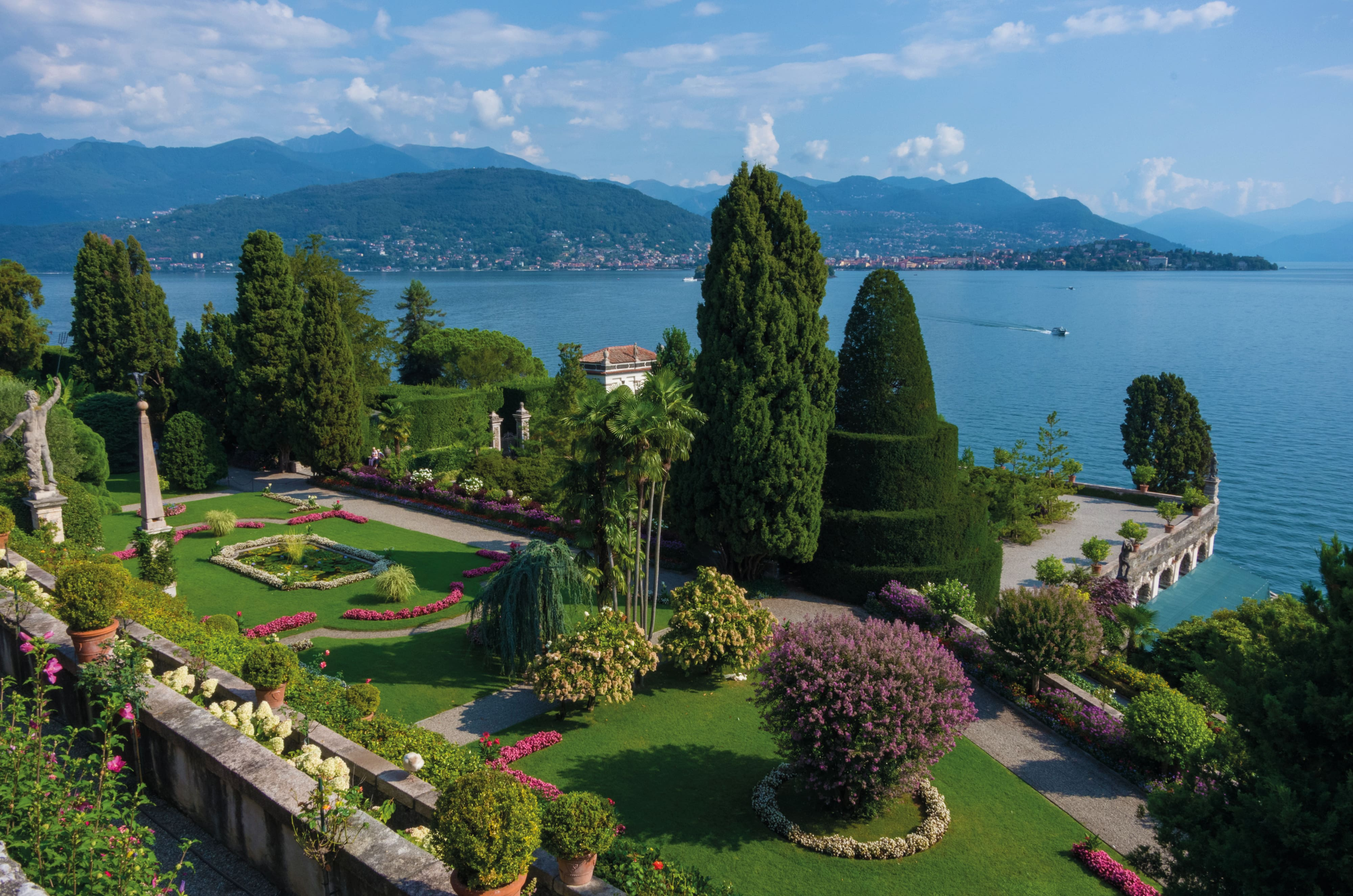 Gardens of Isola Bella and views of Lake Maggiore