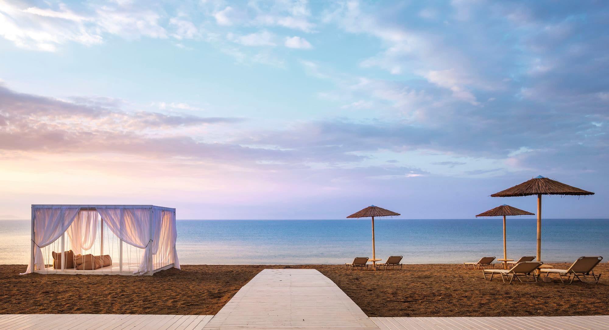 Greece sandy beach