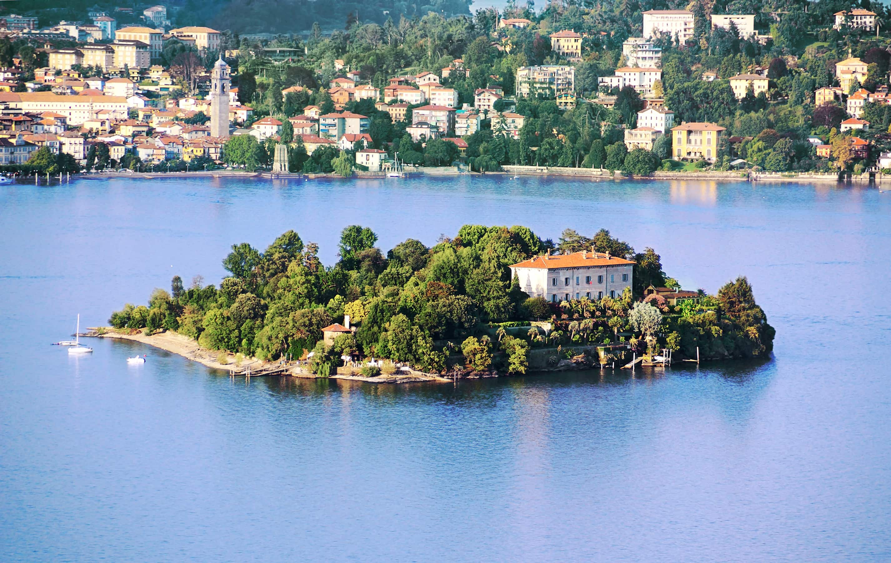 Aerial view of Isola Madre