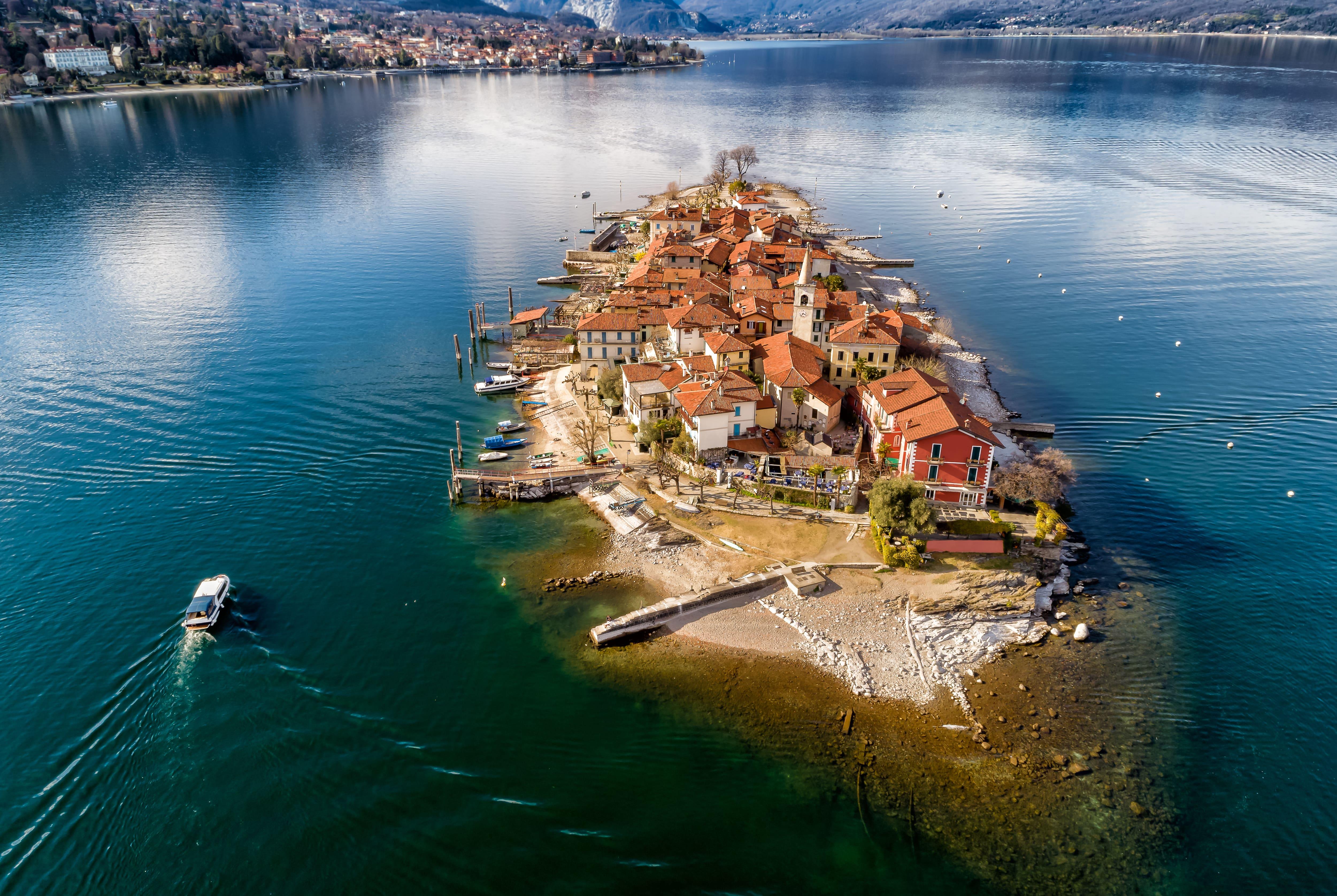 Aerial view of Isola dei Pescatori