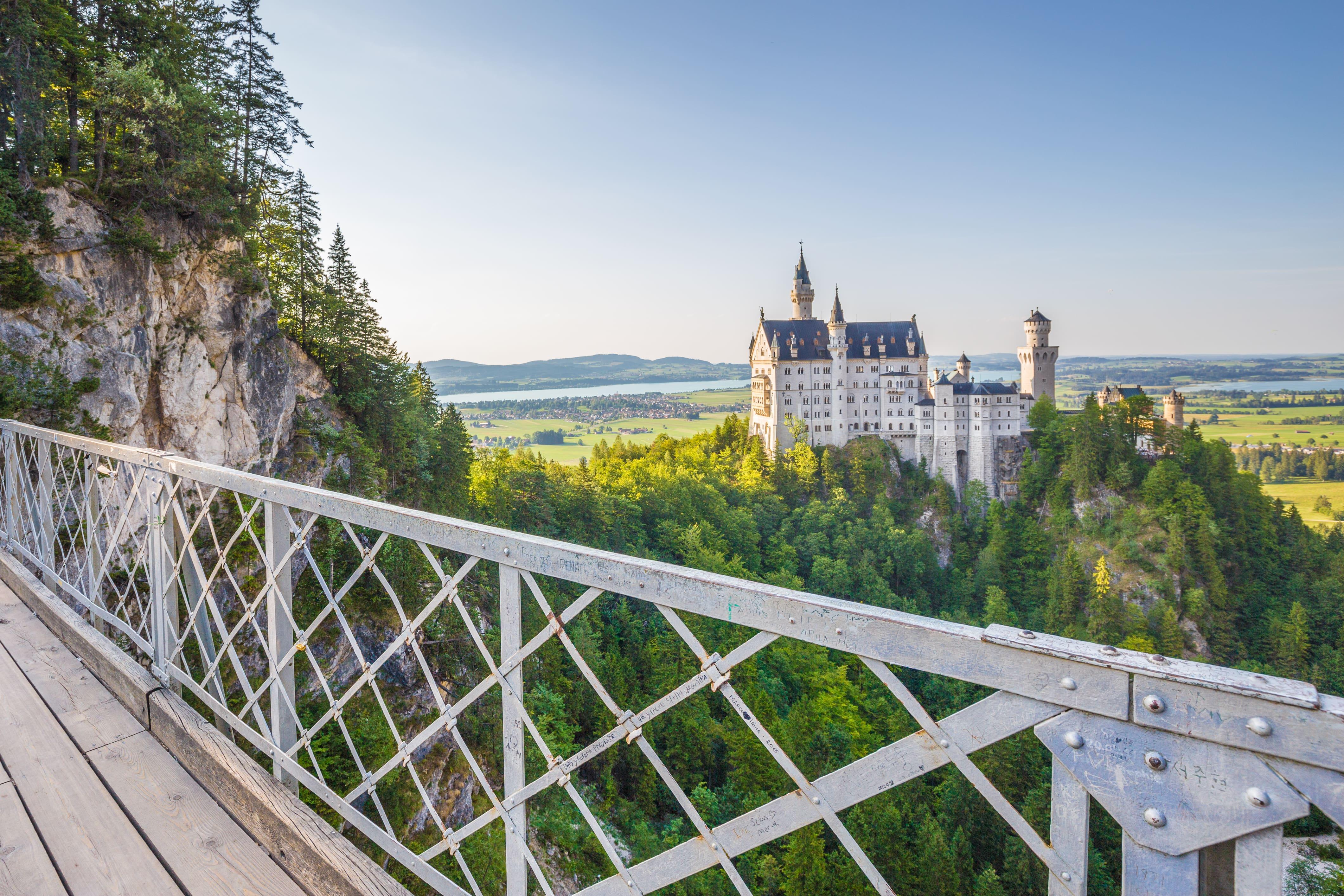 Neuschwanstein castle from Queen Mary's Bridge