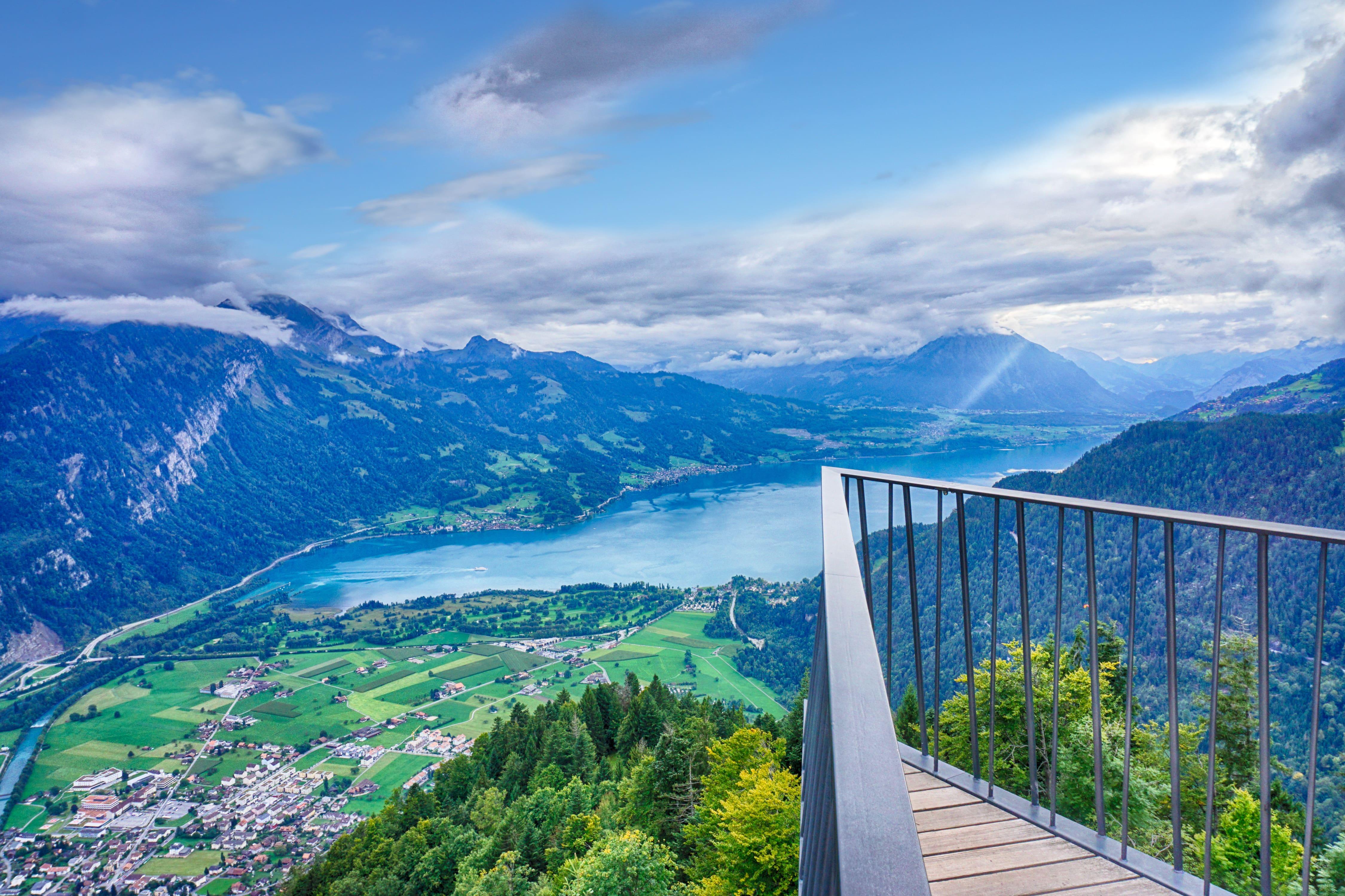 View from Two Lakes Bridge above Interlaken